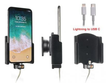 houder Apple iPhone X Padded  lightning->USB-C