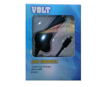 VOLT 12/24V Car Charger, Micro USB, 2 Amp