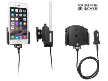 houder/lader Apple iPhone 8 / X / 7 / 6 verstelbaar (B 62-77, D2-10mm) - met USB