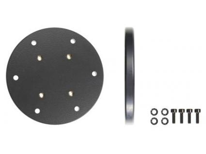 prof. Mounting plate round, 100x9 mm