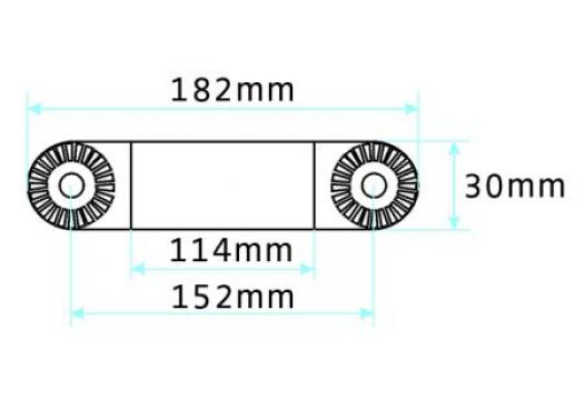 "prof. Extension part 6"", total length 182 mm"